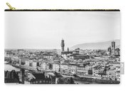 Black And White Florence Italy Carry-all Pouch