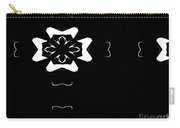 Black And White Flower Abstract Carry-all Pouch