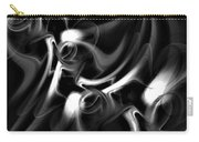 Black And White Fractal 080810a Carry-all Pouch