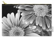 Black And White Gerber Daisies 3 Carry-all Pouch