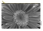Black And White Gerber Daisy 4 Carry-all Pouch
