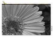 Black And White Gerber Daisy 5 Carry-all Pouch