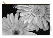 Black And White Gerbera Daisies 1 Carry-all Pouch