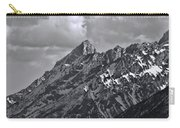 Black And White Grand Teton Detail Carry-all Pouch
