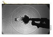 Black And White Gun Firing Shadowgram Carry-all Pouch by Garry S Settles and Photo Researchers