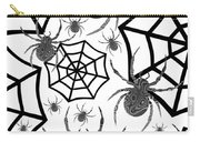 Black And White Halloween Carry-all Pouch