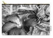 Black And White Hibiscus Carry-all Pouch