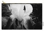 Black And White Iris Carry-all Pouch