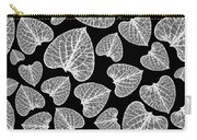 Black And White Leaf Abstract Carry-all Pouch