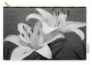 Black And White Lilies 1 Carry-all Pouch