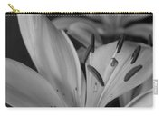 Black And White Lilies 2 Carry-all Pouch