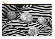 Black And White Lines And Stones  Carry-all Pouch