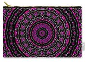 Black And White Mandala No. 3 In Color Carry-all Pouch by Joy McKenzie