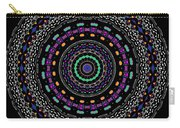 Black And White Mandala No. 4 In Color Carry-all Pouch