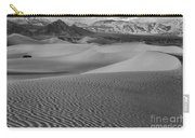 Black And White Mesquite Sand Dunes Carry-all Pouch