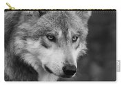 Black And White Mexican Wolf #4 Carry-all Pouch