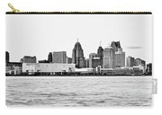 Black And White Motor City Pano Carry-all Pouch