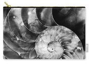 Black And White Nautilus Shell By Sharon Cummings Carry-all Pouch