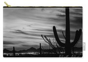 Black And White Night In Arizona Carry-all Pouch