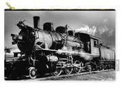 Black And White Of An Old Steam Engine  Carry-all Pouch