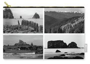 Black And White Olympic National Park Collage Carry-all Pouch