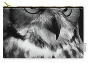 Black And White Owl Painting Carry-all Pouch