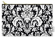 Black And White Paisley Pattern Vintage Carry-all Pouch