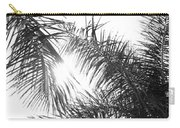 Black And White Palm Trees Carry-all Pouch