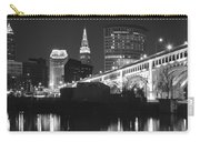 Black And White Panorama Of Cleveland Carry-all Pouch