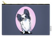 Black And White Papillon Carry-all Pouch