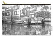Black And White Party Boat Carry-all Pouch