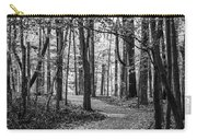 Black And White Path In Autumn  Carry-all Pouch
