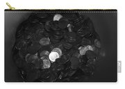 Black And White Pennies Carry-all Pouch
