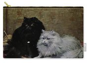 Black And White Persians Carry-all Pouch