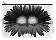 Black And White Petals Carry-all Pouch