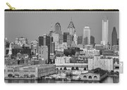 Black And White Philadelphia - Delaware River Carry-all Pouch