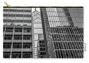 Black And White Philadelphia - Skyscraper Reflections Carry-all Pouch