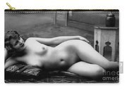 Black And White Photo Of Female Erotic Nude Carry-all Pouch