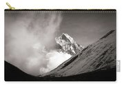 Black And White Photo Of Snow Peak In Nepal Carry-all Pouch
