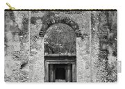 Black And White Photograph Beaufort Historic Church - Chapel Of The Ease Carry-all Pouch