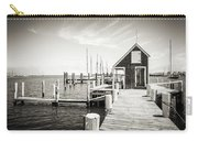 Black And White Photography - Martha's Vineyard - Black Dog Wharf Carry-all Pouch