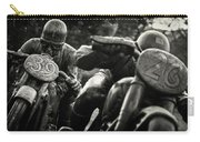 Black And White Photography - Motorcyclists Carry-all Pouch