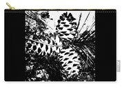 Black And White Pine Cone Carry-all Pouch