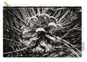 Black And White Pine Cone Wall Art Carry-all Pouch