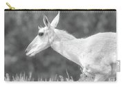 Black And White Pronghorn Portrait Carry-all Pouch