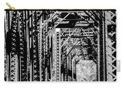 Black And White Railroad Carry-all Pouch