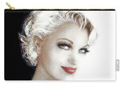 Black And White Red Lips Carry-all Pouch