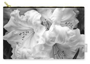 Black And White Rhododendron Carry-all Pouch