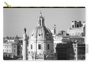 Black And White Rooftop In Rome Carry-all Pouch