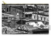 Black And White Rooftops Carry-all Pouch